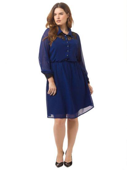 платье для полных девушек из шифона