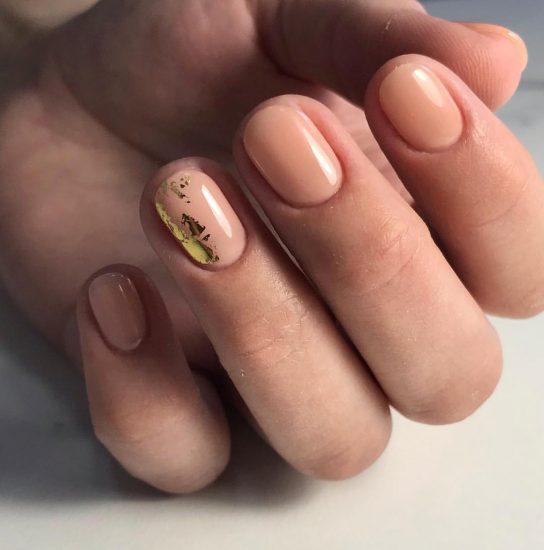 маникюр на короткие ногти под корень