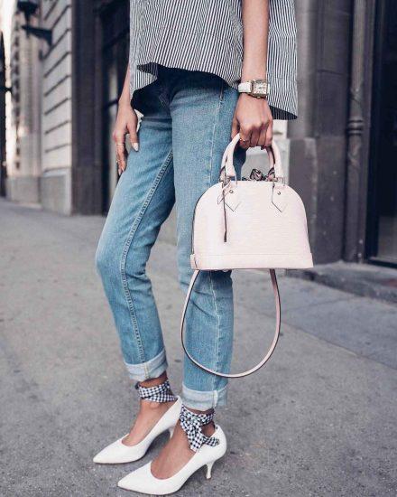 Стильные туфли на низком каблуке