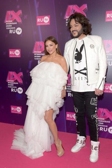 Ани Лорак и Филипп Киркоров на церемонии RU.TV