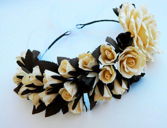 ободок для волос своими руками из цветов