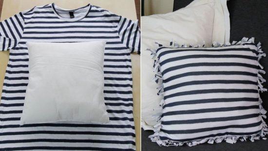 наволочка из старых футболок