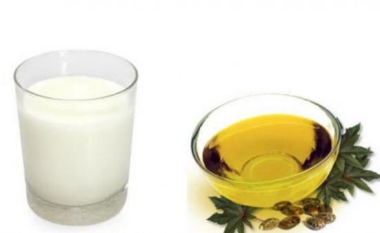 Молоко и касторовое масло