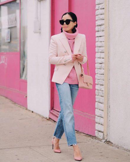 нежно-розовая базовая сумка
