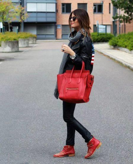 красная базовая сумка