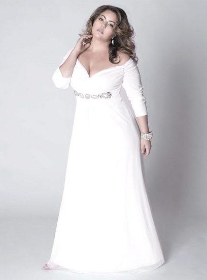 Свадебное платье для маленьких полных девушек