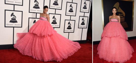 Рианна в платье джамбаттиста валли