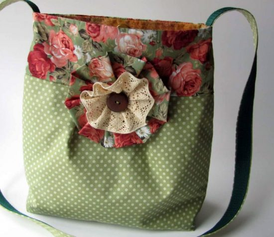 сумочка из постельного белья