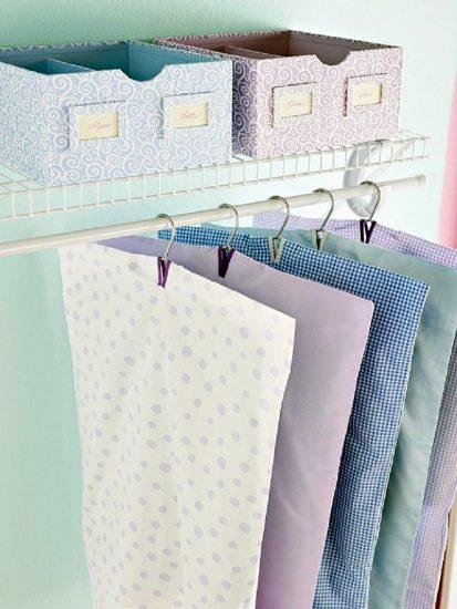 чехлы для одежды из постельного белья