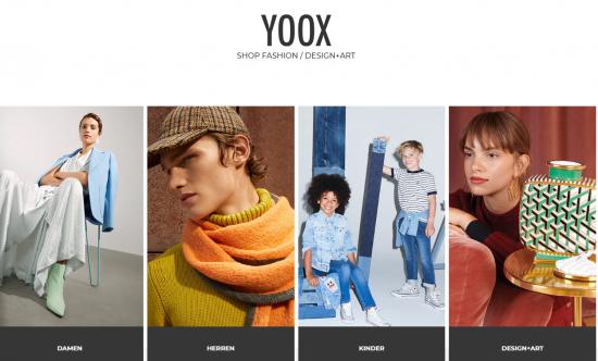 Сайт для заказа одежды Yoox.com