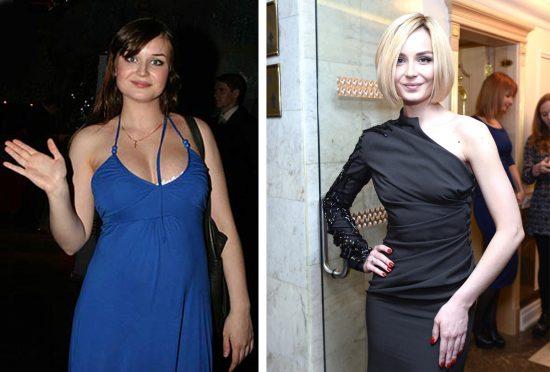 Полина Гагарина до и после похудения