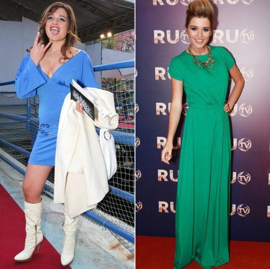 Ксения Бородина до и после похудения