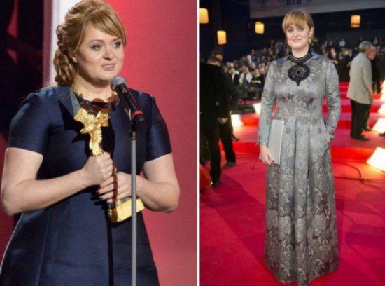 Анна Михалкова до и после похудения