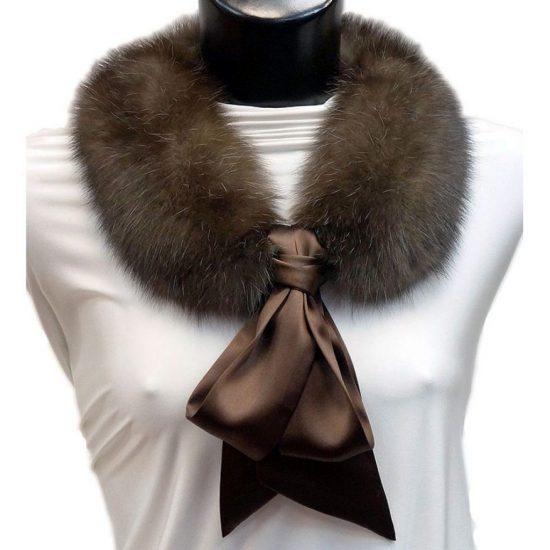 Меховой воротник с шейным платком