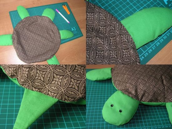 Выкройка игрушки в виде черепахи