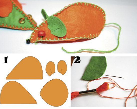 Выкройка игрушки мышонка