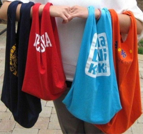 Готовые сумки из футболок