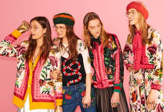 Девушки в одежде бренда Gucci