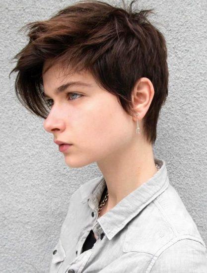 Причёска «Городской сорванец»