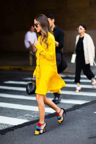 Образ с жёлтым платьем