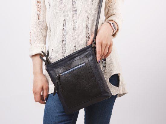 Чёрная сумка-планшет
