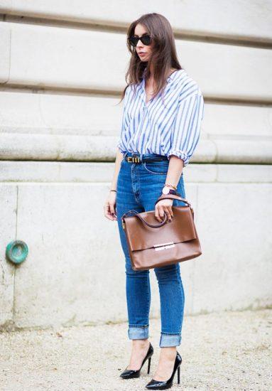 Модный лук с рубашкой