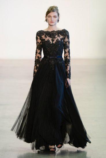 Чёрное платье от кутюр