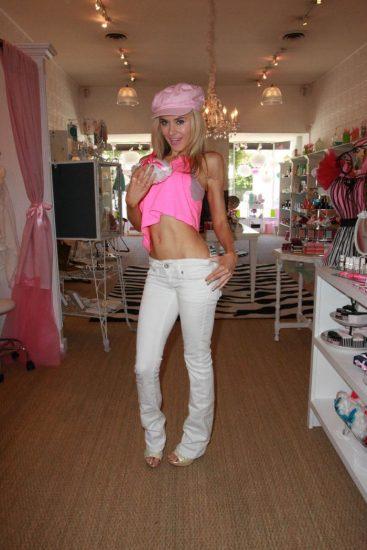 Облегающие брюки в стиле Барби