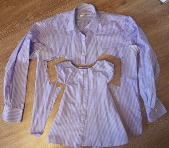 Платье из рубашки для девочки