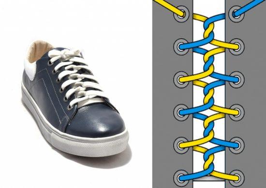 Скрученная шнуровка