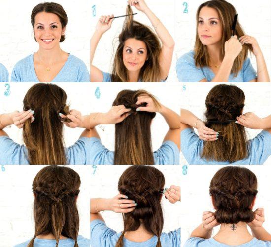 Создание «греческой» причёски