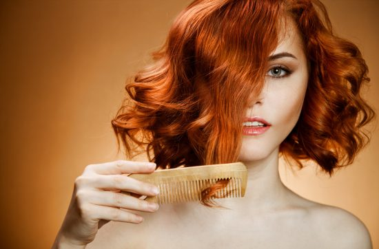 Волосы рыжего цвета