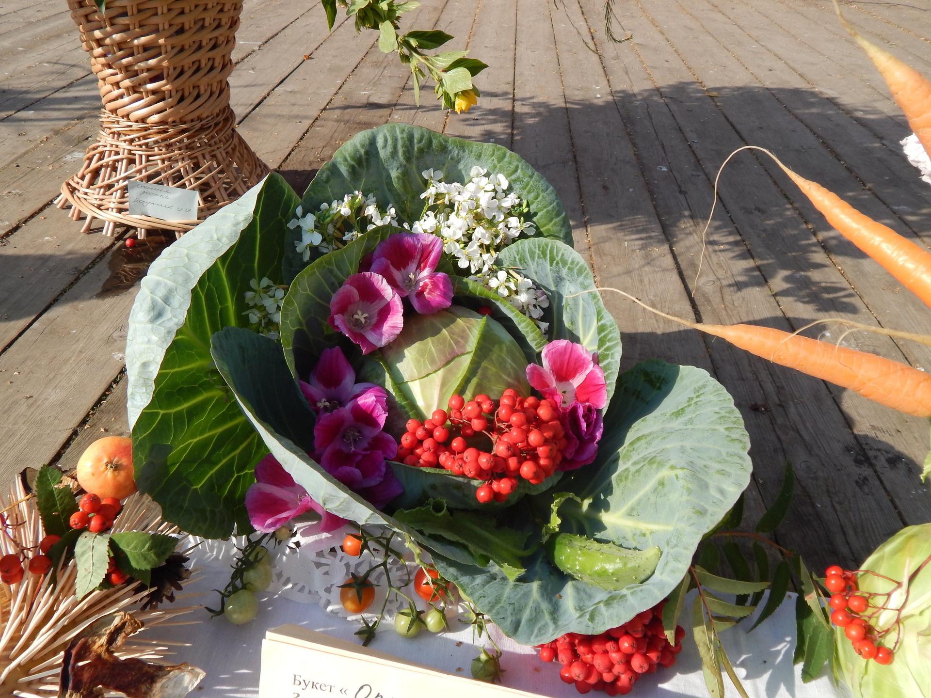 Поделки из цветов и овощей своими руками фото
