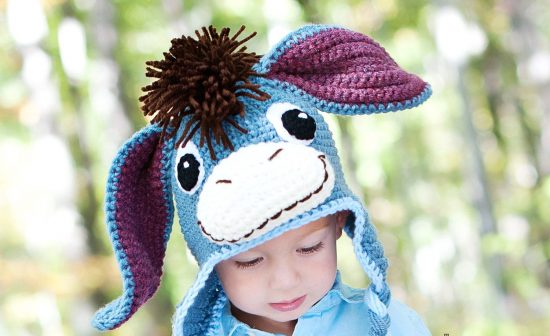 Вязаная шапочка-зверюшка