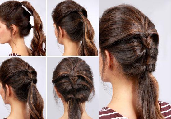 Упругая коса их хвостиков