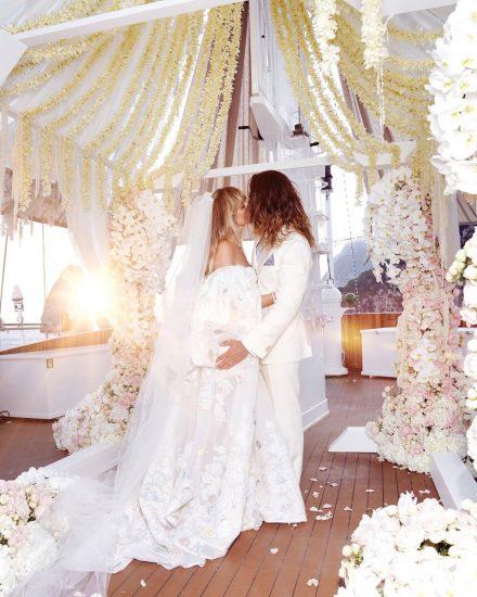 Хайди Клум в свадебном платье