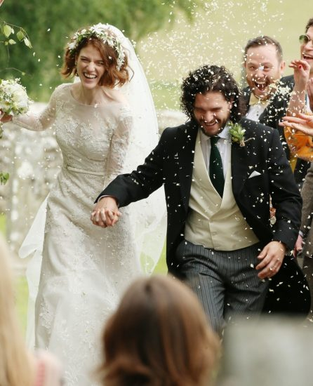 Роуз Лесли в свадебном платье