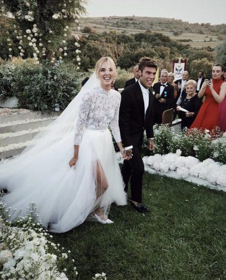 Кьяра Ферранья в свадебном платье