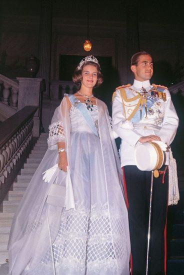 Фото со свадьбы принцессы Энн Мари и короля Константина