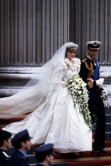 Фото со свадьбы принцессы Дианы и принца Чарльза