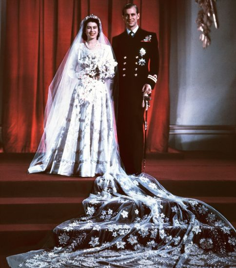 Свадебное фото принцессы Елизаветы и принца Филиппа