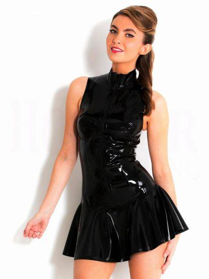 Латексное платье