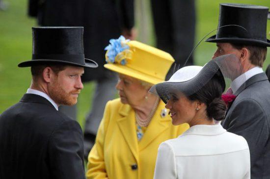 принц Гарри, Меган Маркл, Елизавета II