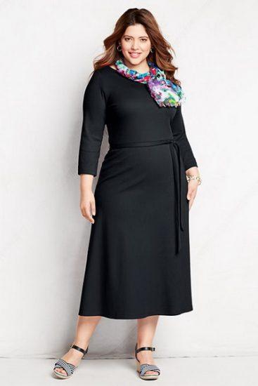 Чёрное платье с платком