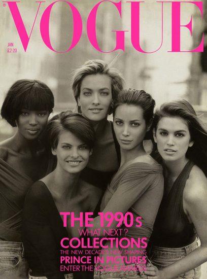 Январский выпуск Vogue 1990 года