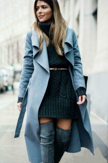 с чем носить пальто осенью
