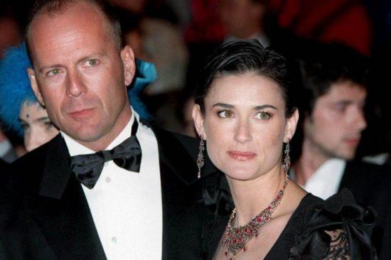 Деми Мур с мужем Брюсом Уиллисом