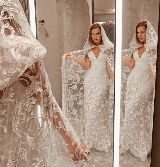Дарья Клюкина в подвенечном платье