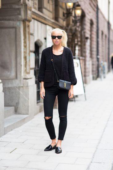 Образ с лоферами и джинсами