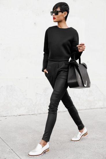 Образ с лоферами и брюками